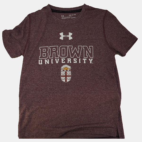Image For Under Armour Youth Threadborne Maroon Tee - $28.99