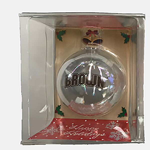 Image For Handblown Glass Ball Ornament - Clear