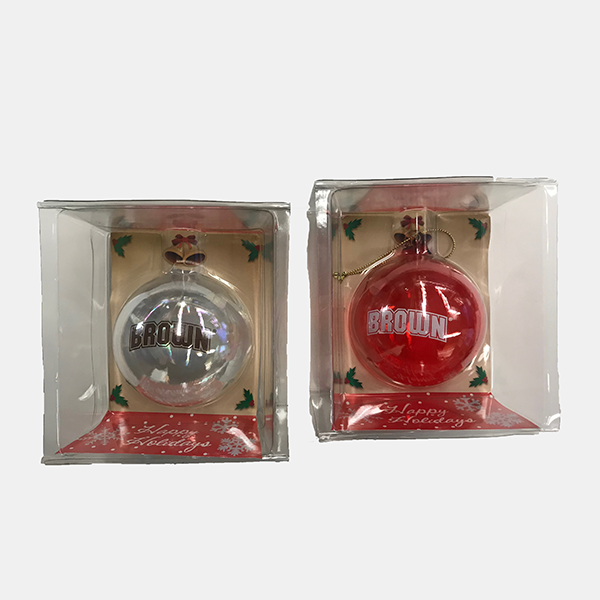 Image For Handblown Glass Ball Ornament (Clear or Red)