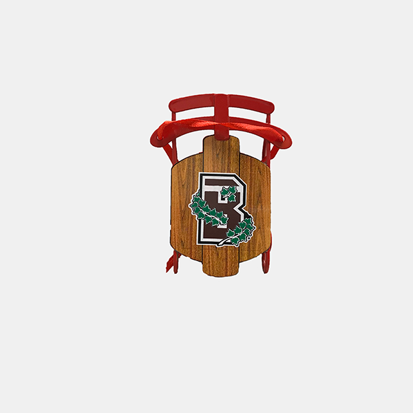 Image For Old Fashion Metal/Wooden Sled Ornament