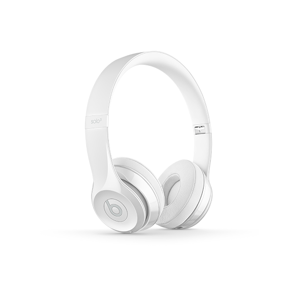 Image For Beats Solo³ Wireless Headphones - Gloss White