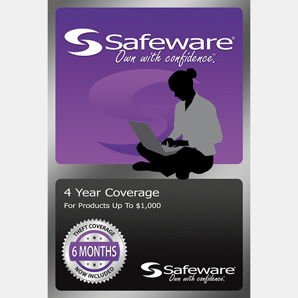Image For Safeware 4 Year Coverage - For Products Up to $1000