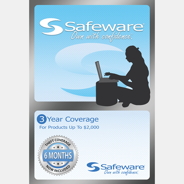 Image For Safeware 3 Year Coverage - For Products Up to $2000