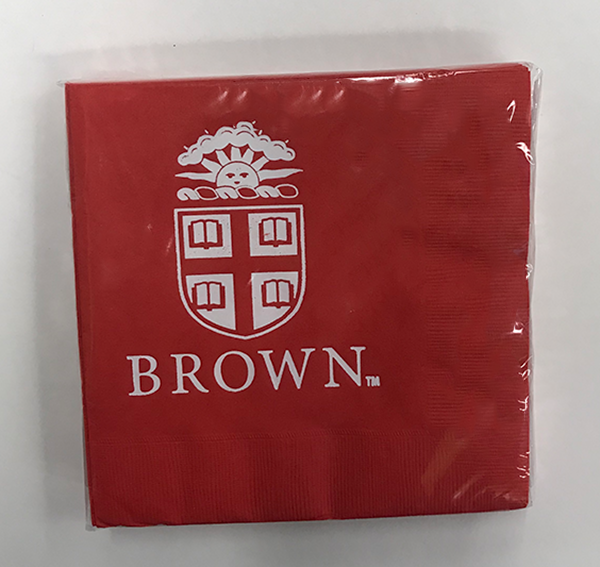 Image For Brown Logo Lunch Napkins