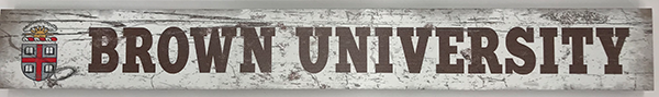 "Image For 20"" 'Brown University' Wooden Table Top Sign"