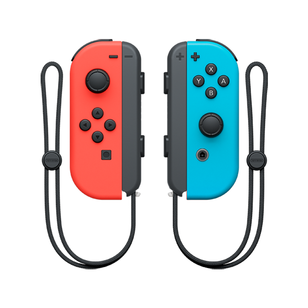 Cover Image For Nintendo Joy-Con Set (L + R) - Neon Red/Neon Blue