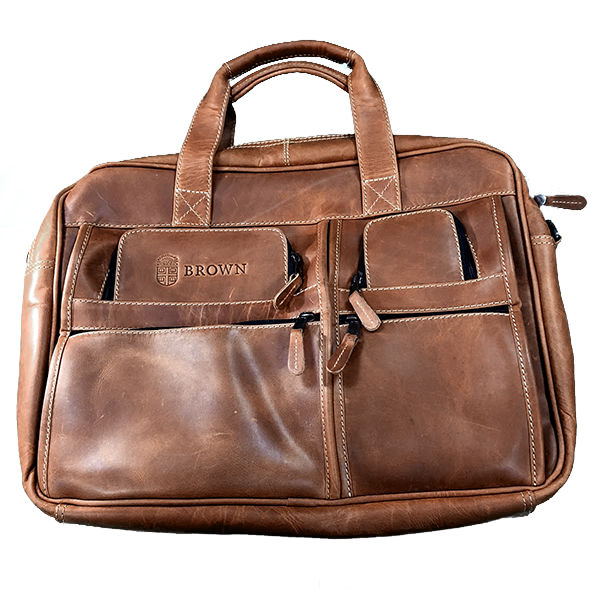 Image For All Leather Computer Briefcase Canyon Outback