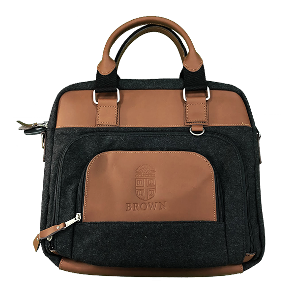 Cover Image For Jonah Messenger Bag - Grey/Tan