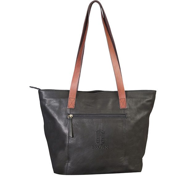 Cover Image For Harper Canyon Tote - Black w/tan trim