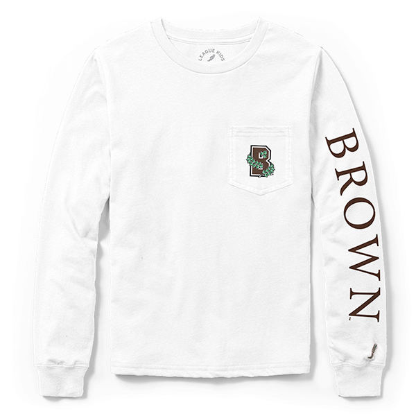 Image For League Youth Long Sleeve Pocket Tee - White