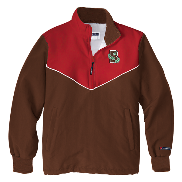 Image For Boathouse Men's Mission 1/4 Zip Jacket - Red & Brown