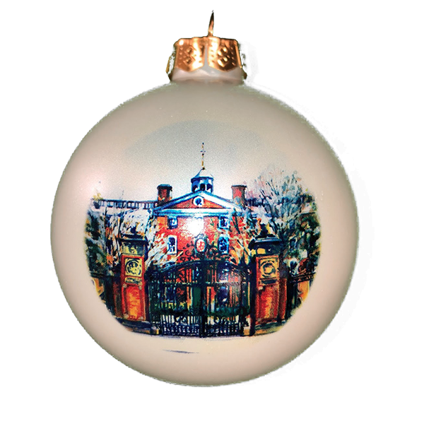 Image For Satin Glass Ball Ornament