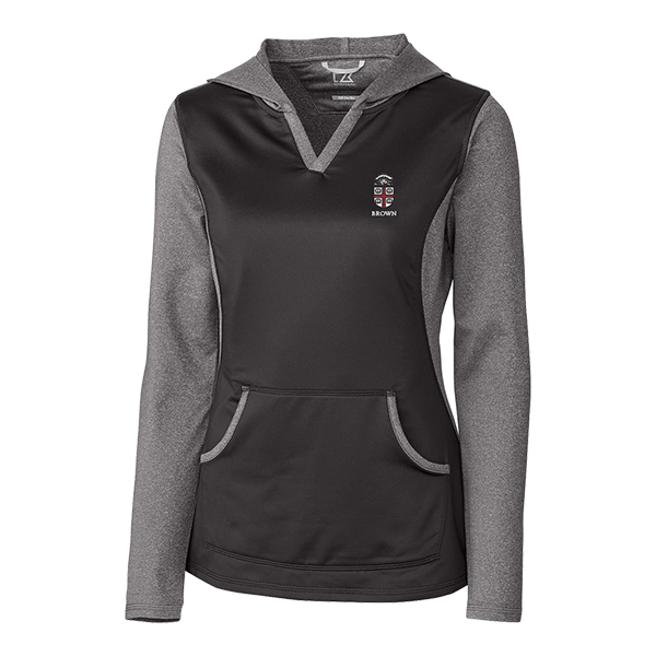 Image For Cutter & Buck Ladies Tackle Hoodie - Charcoal or Cardinal