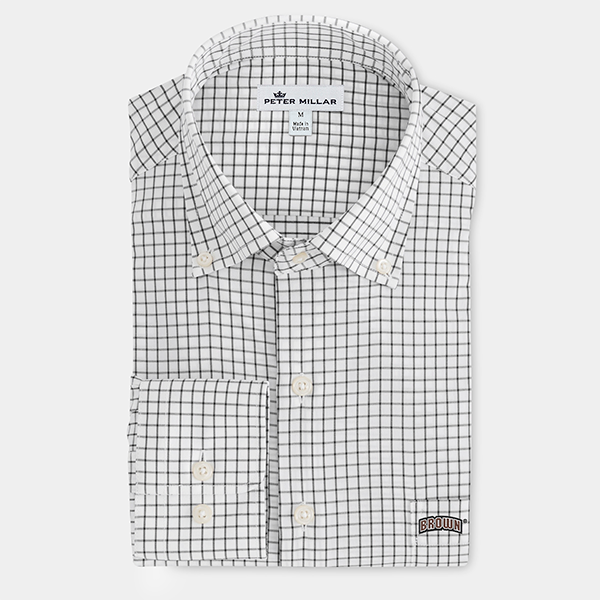 Image For Peter Millar Tattersall Woven Shirt