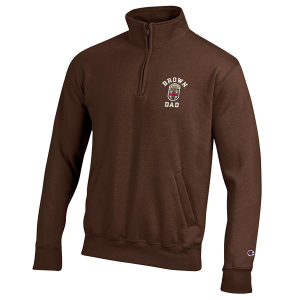 Image For Champion Brown Dad Power Blend 1/4 Zip