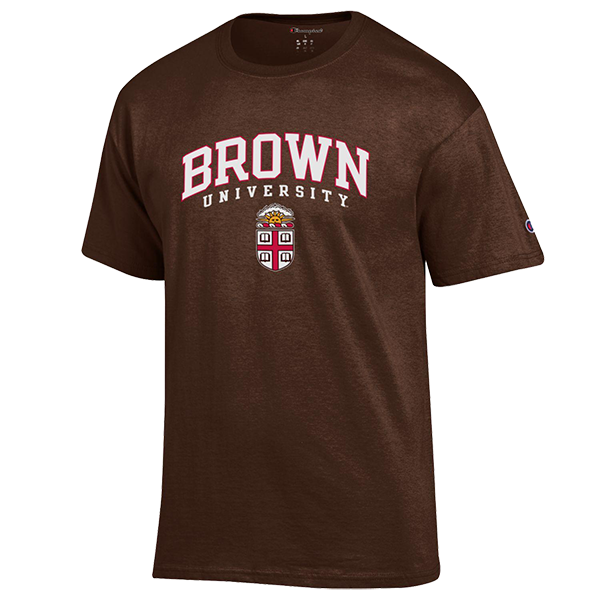 Image For Champion Basic Tee w/University Crest - White or Brown