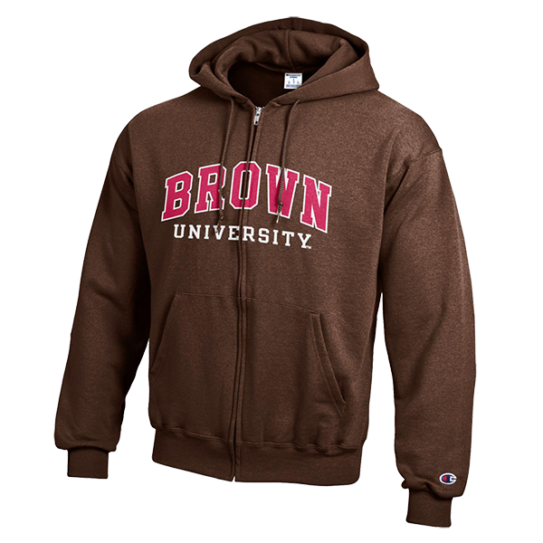 Image For Champion Powerblend Full Zip Hoodie - Brown