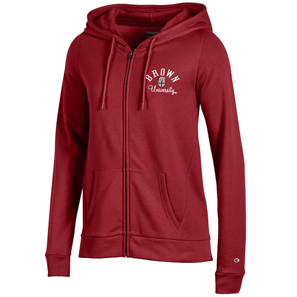 Image For Champion Women's Full Zip Hoodie - Cardinal or Gray