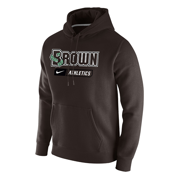 Image For Nike Men's Fleece Pullover Hoodie - Brown Athletics