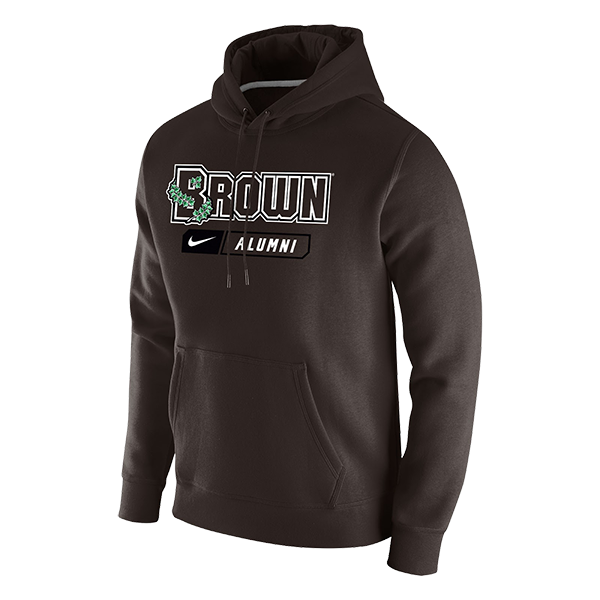 Image For Nike Men's Fleece Pullover Hoodie - Brown Alumni