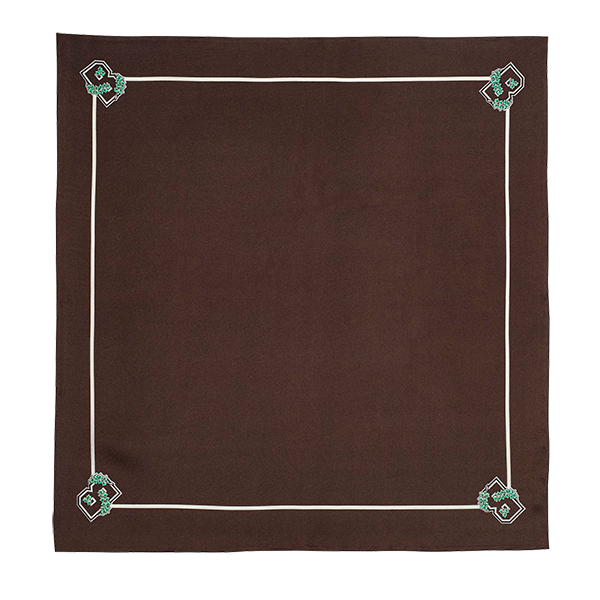 Image For Legacy Scarves Pocket Square - Brown w/Ivy B