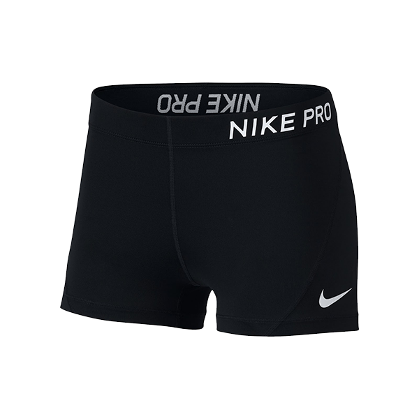 Image For Nike Women's Pro Shorts - Black or Charcoal