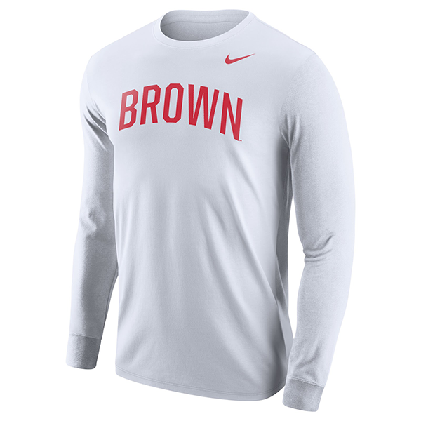 Image For Nike Men's Core Long Sleeve Tee - White or Red