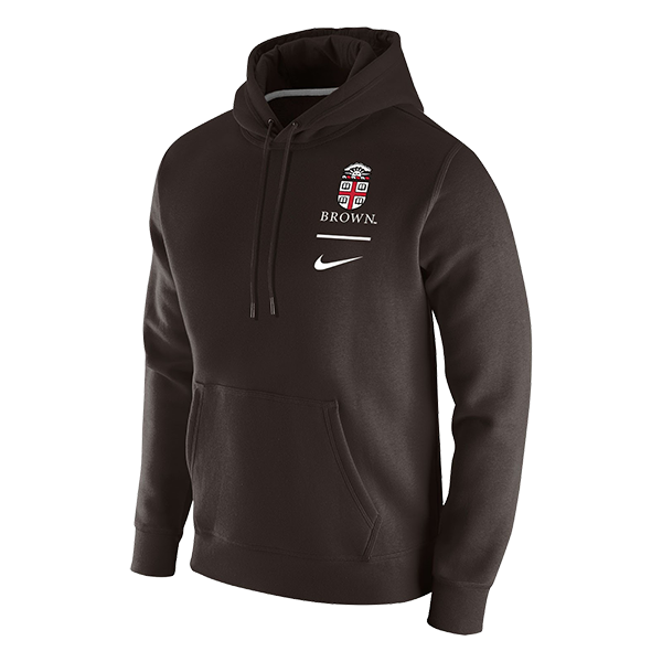 Image For Nike Club Fleece Pullover Hoodie - Brown or Dark Gray