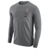 Nike Core Long Sleeve Crest Tee - White or Dark Gray Image