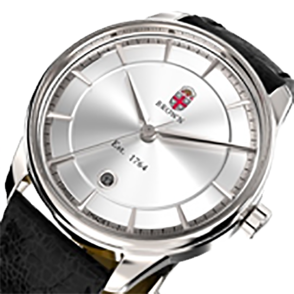 Cover Image For AXIA Time Kairos Silver Crest Watch w/Black Strap