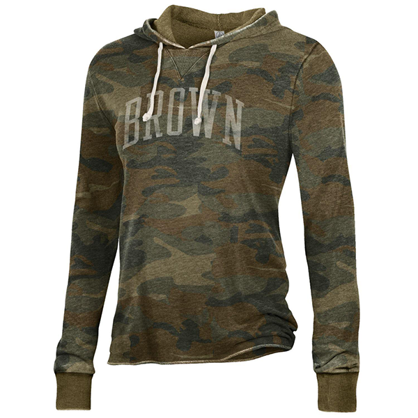 Image For Alternative Apparel Day Off Hoodie - Camo and Black