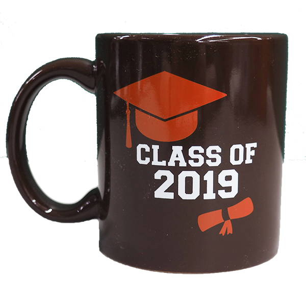 Cover Image For 'Class of 2019' Grad/Alumni Brown Crest Mug 11oz