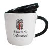 10oz White Alumni Coffee Mug with Lid and Seal Image