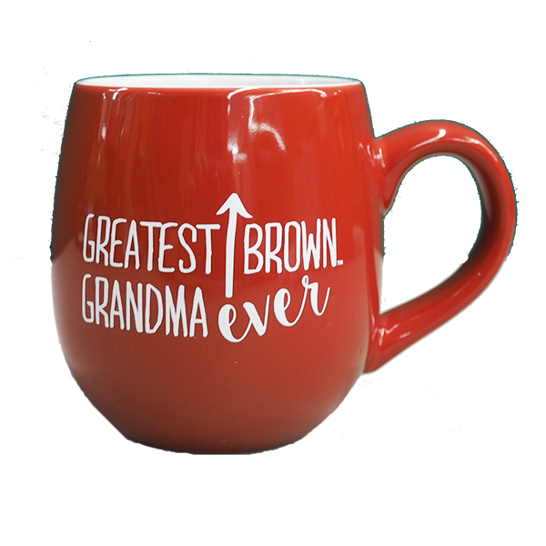 Image For 'Greatest Brown Grandma Ever' red ceramic mug