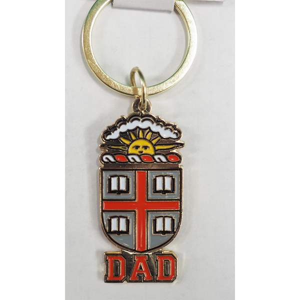 Image For Dad Brass Crest Keychain