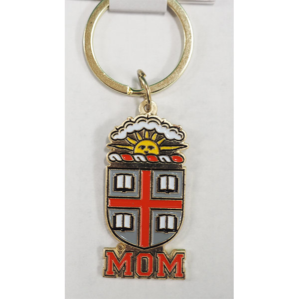Image For Mom Brass Crest Keychain