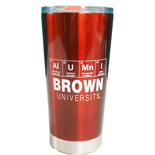Image For Alumni Periodic Table Travel Tumbler in Glossy Red