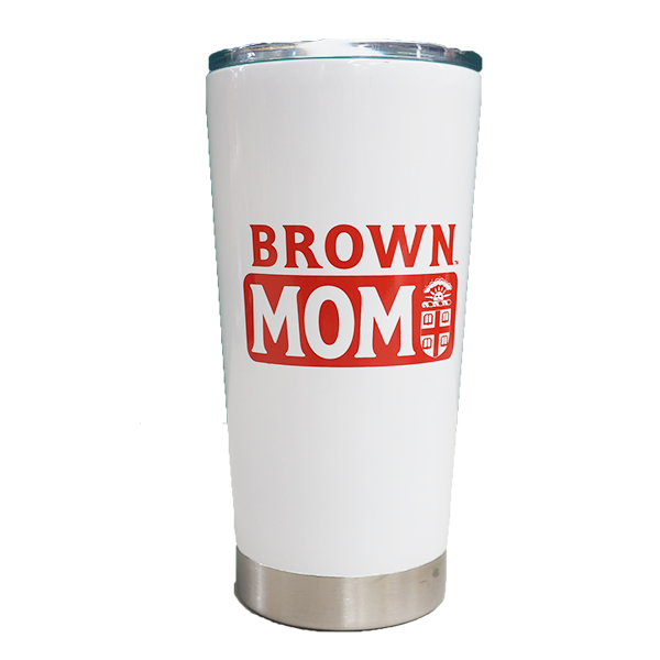 Image For RAMSAY 'Brown Mom' Travel Tumbler in White