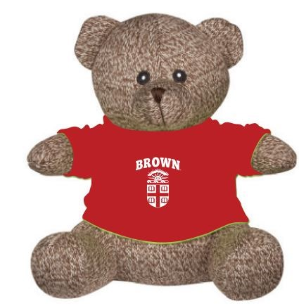 Image For Landon Teddy Bear - Brown w/ Red Tee