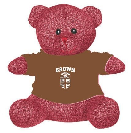 Image For Landon Teddy Bear - Red w/ Brown Tee