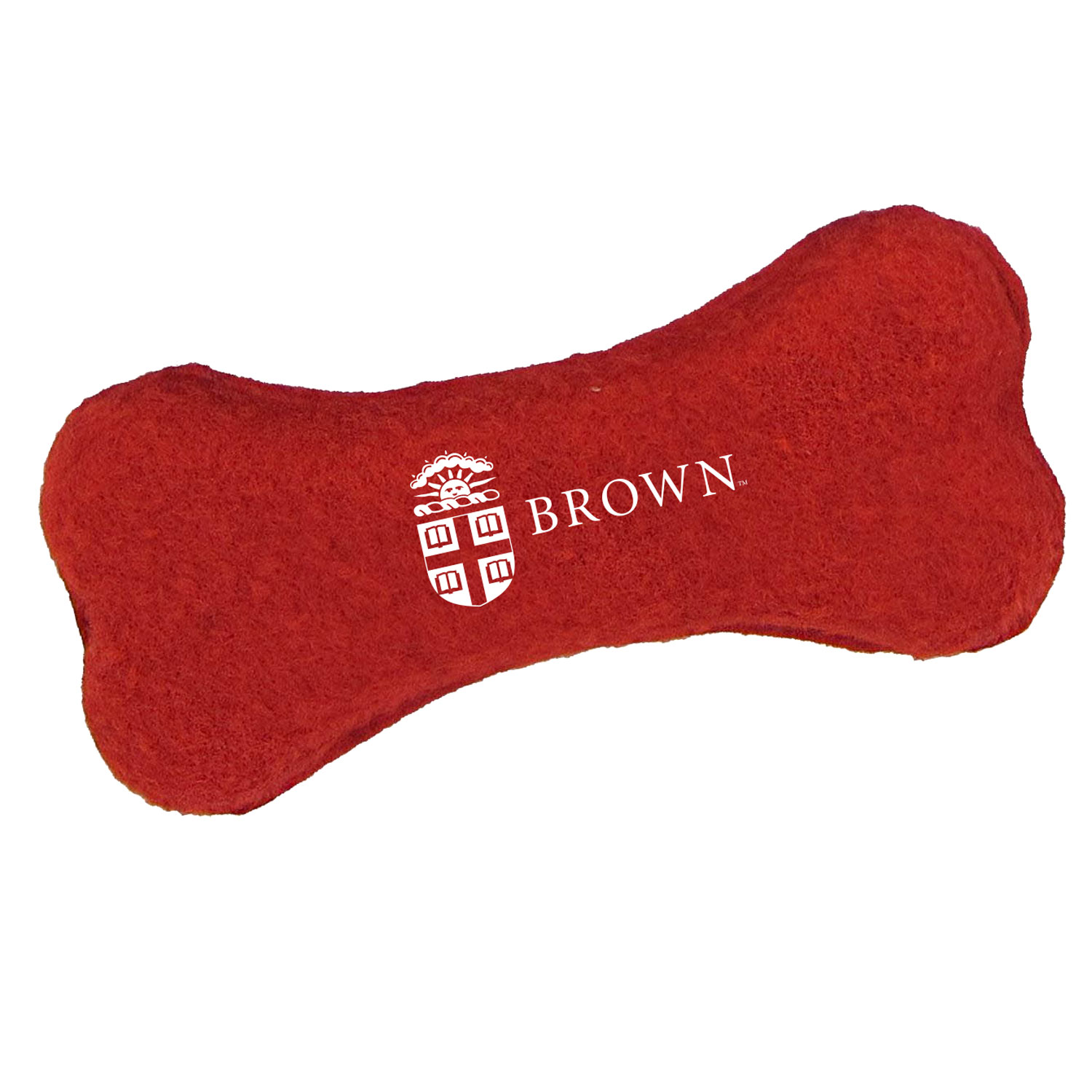 Image For Red Bone-Shaped Tennis Ball Pet Toy