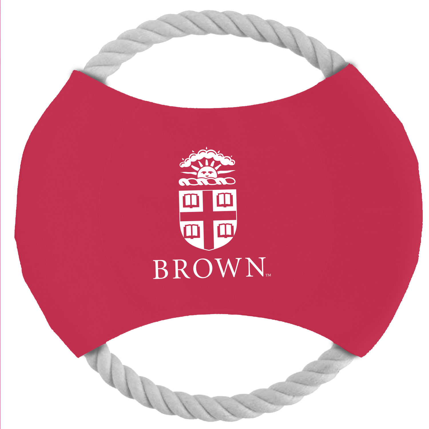 Image For Red and White Rope Disk Pet Chew/Throw Toy