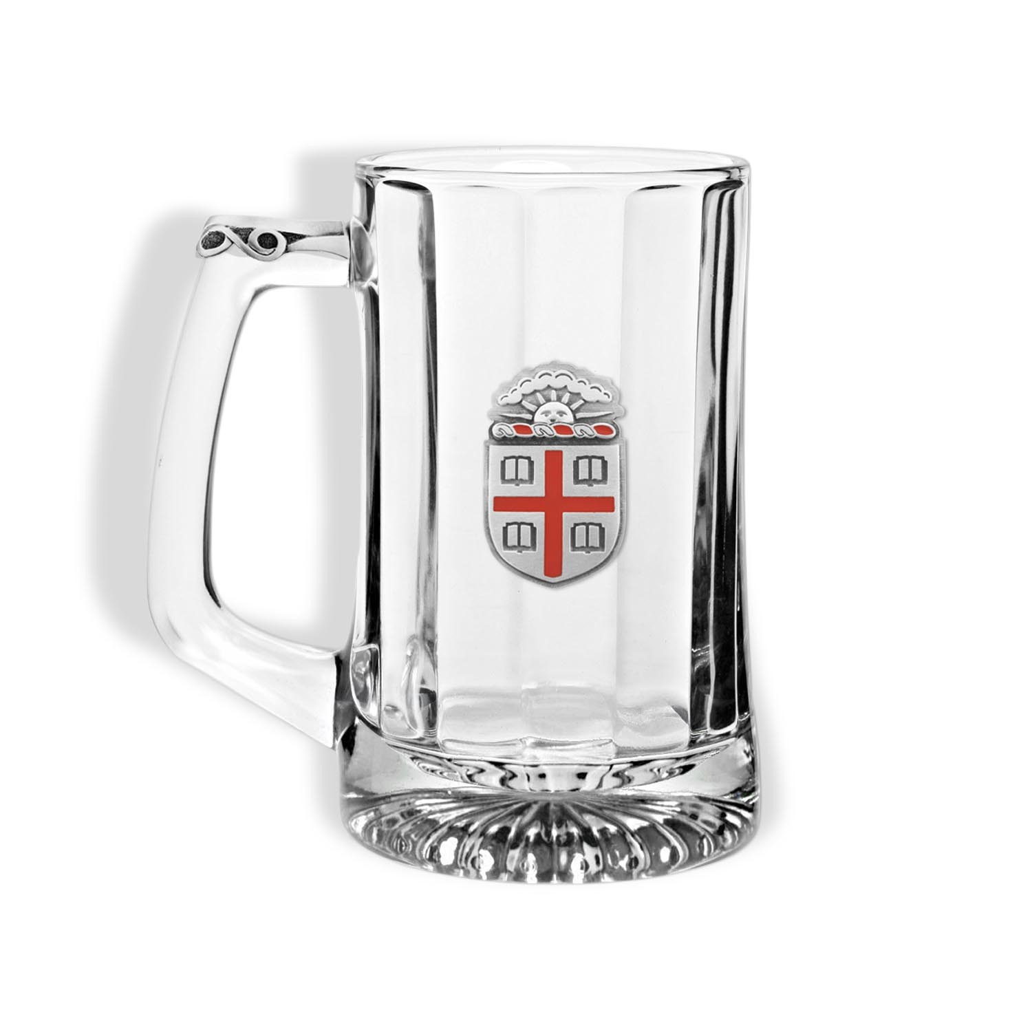 Image For 15oz Glass Beer Mug with pewter thumb piece