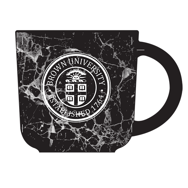 Image For 17oz Black Marble Etched Mug