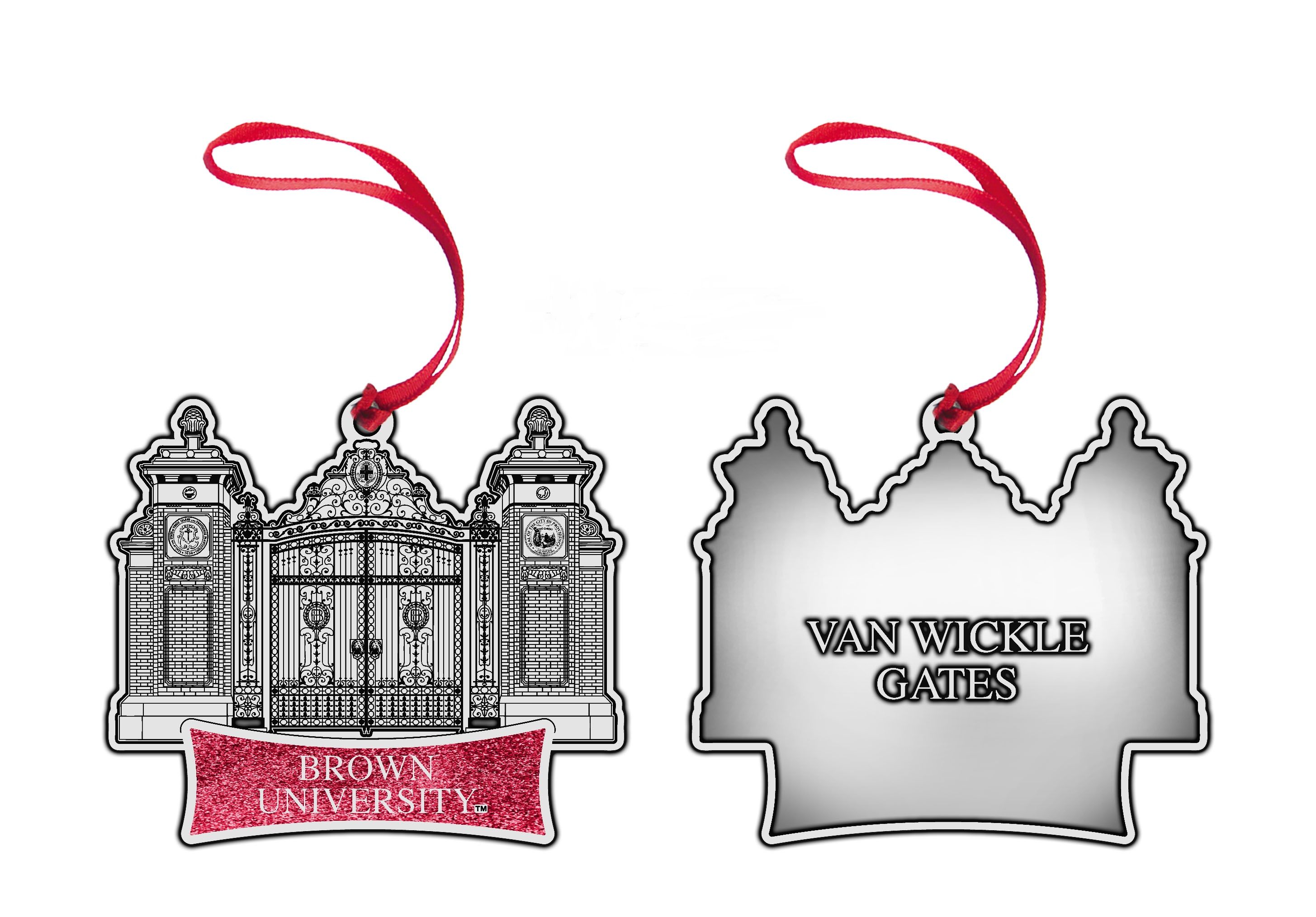 Image For Silver PEWTER Gates Ornament