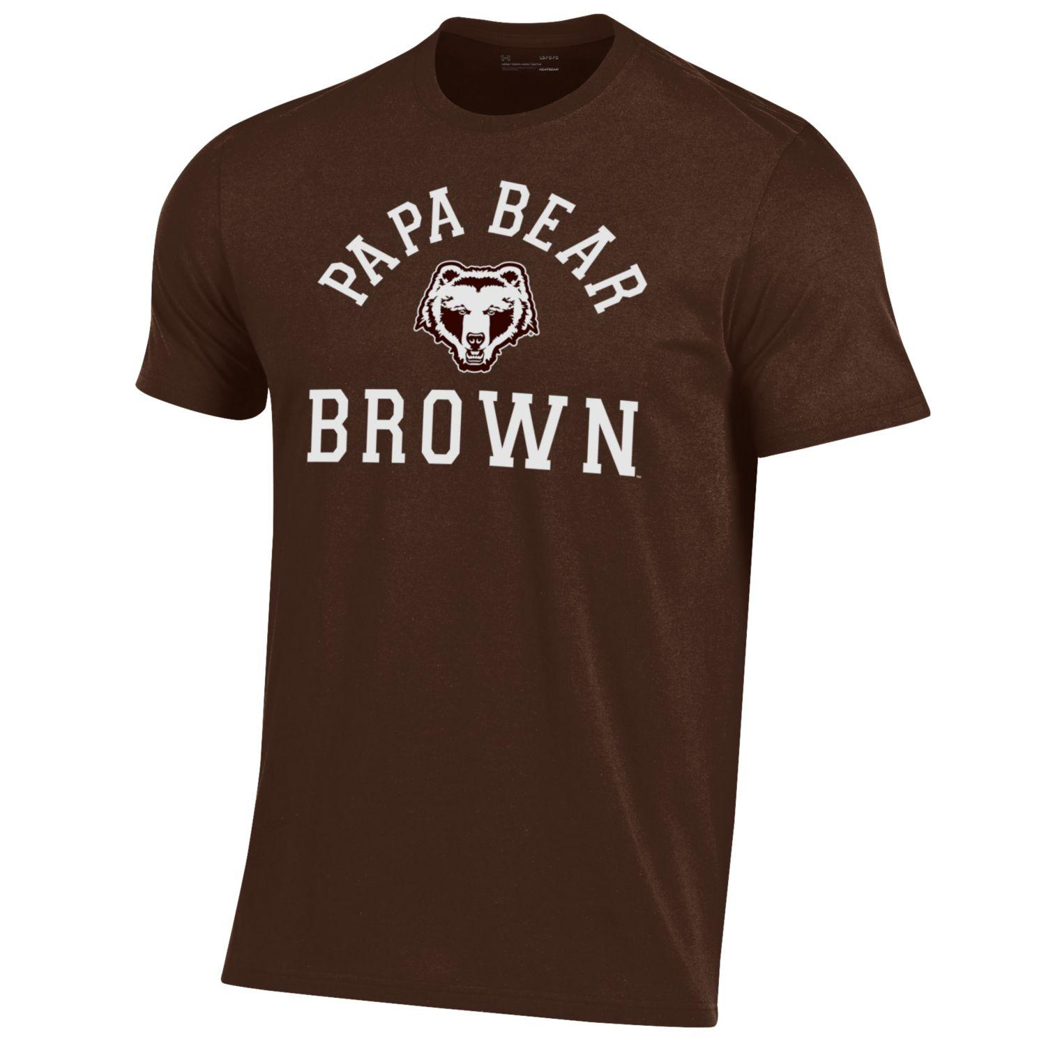 Image For Under Armour Short Sleeve Papa Bear Tee - Brown or Grey