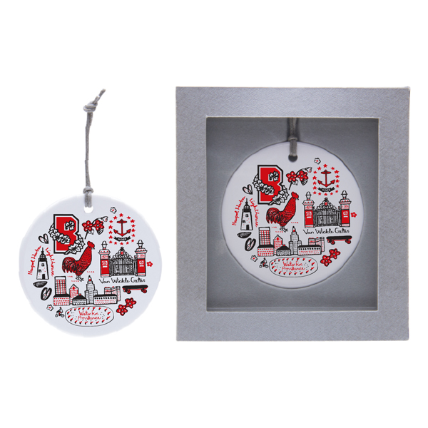 Image For Julia Gash Ceramic Ornament - Rooster