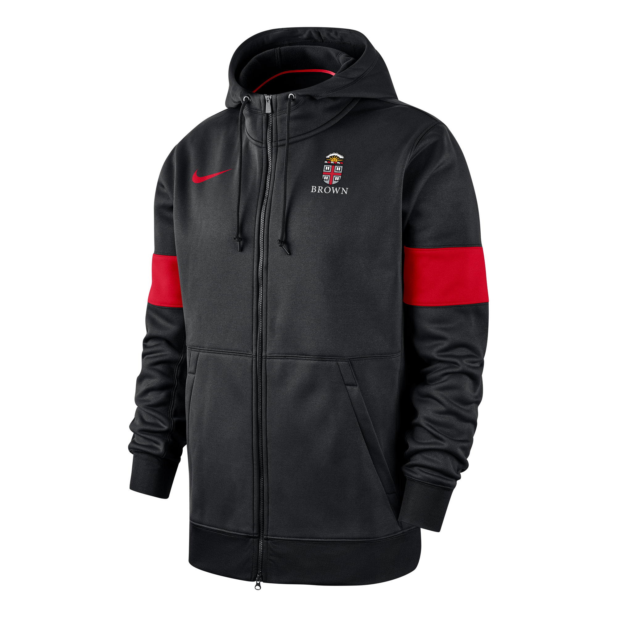 Cover Image For Nike Full Zip Therma Hood - Black and Red
