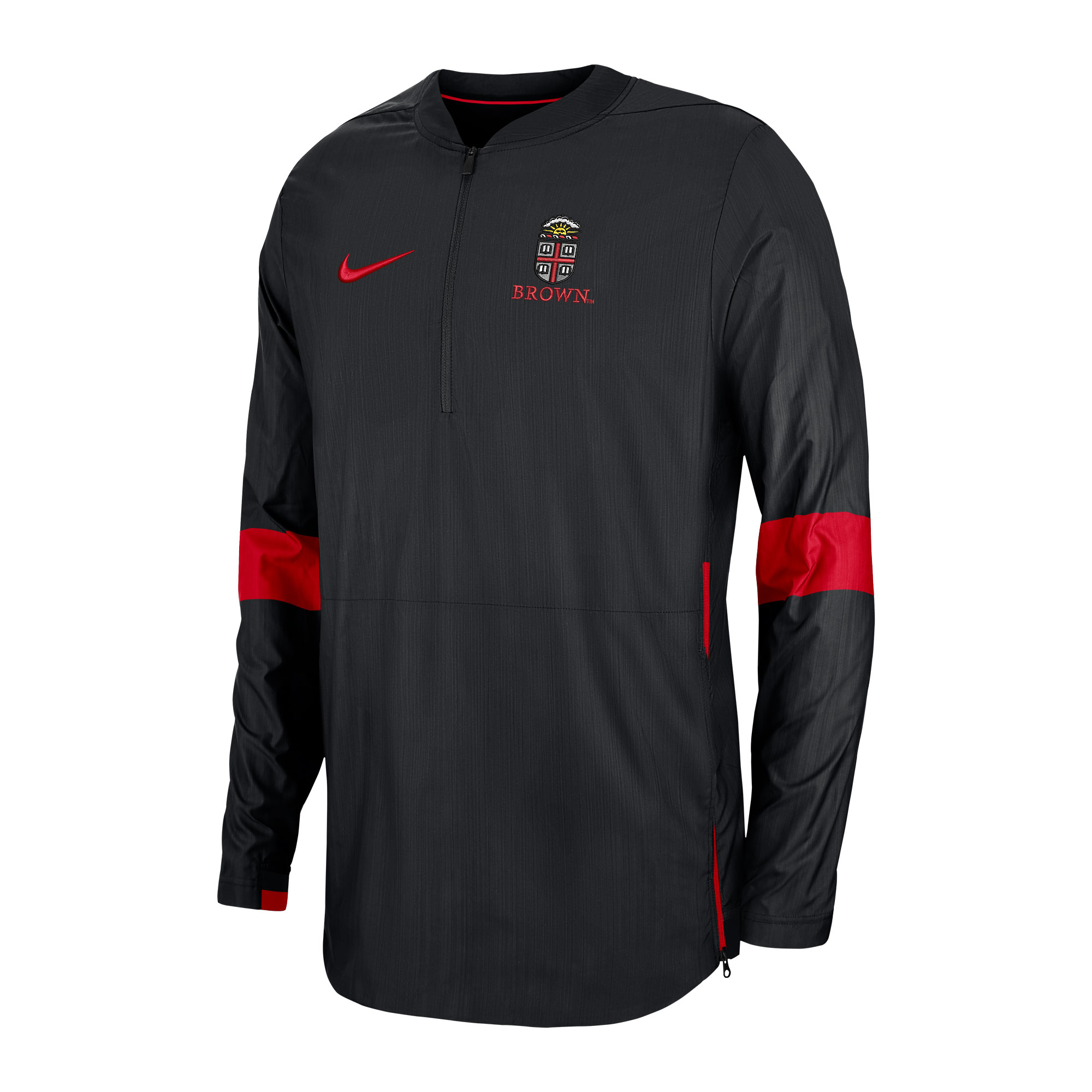 Image For Nike Lightweight Coach Jacket - Black and Red
