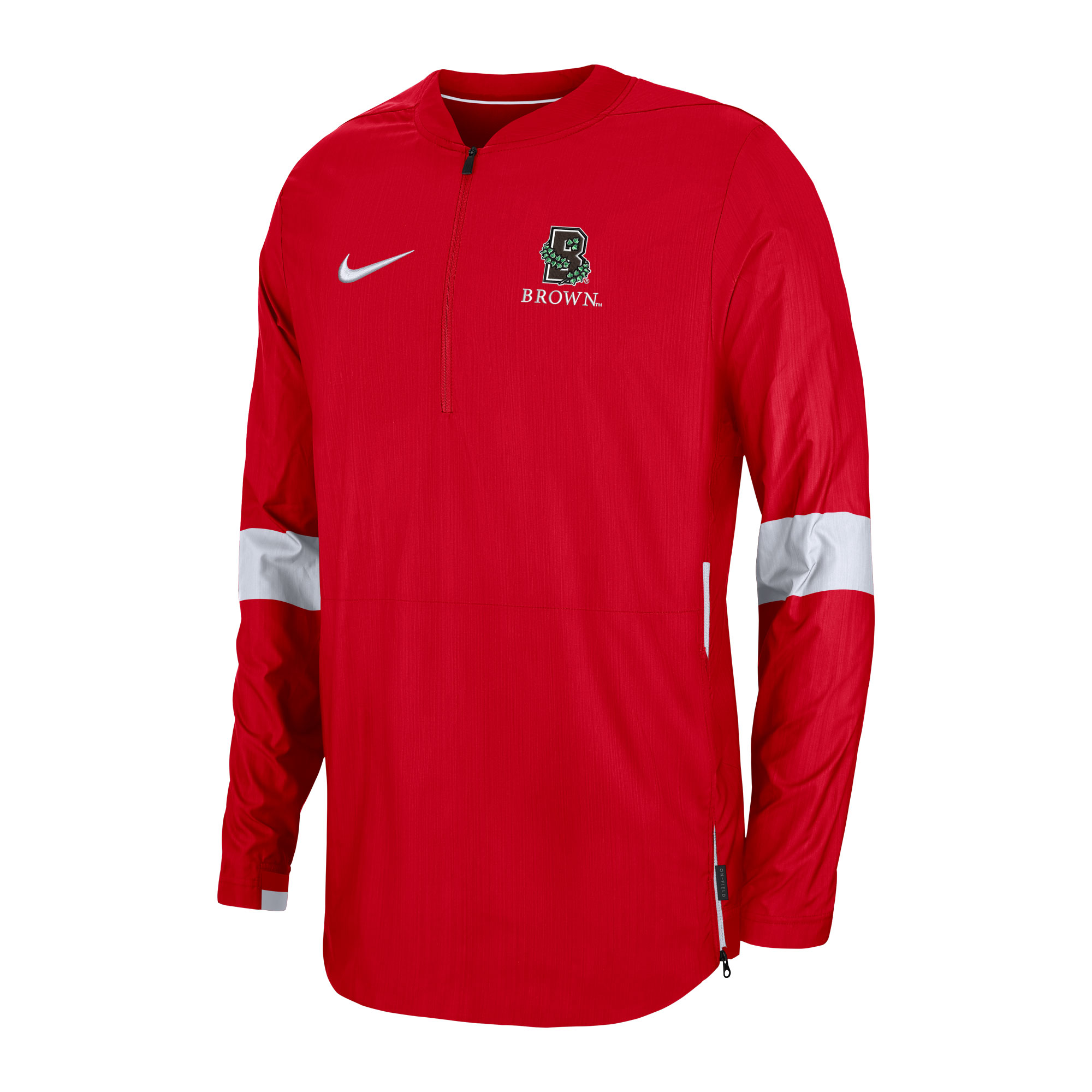 Cover Image For Nike Lightweight Coach Jacket - Red and White - 3x